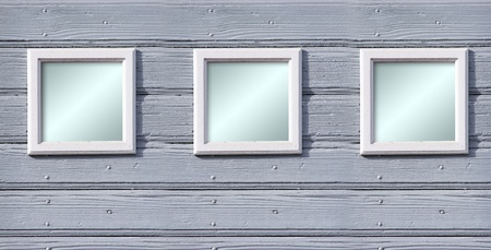Ancien cadre en bois blanc pour votre texte Banque d'images - 11316124