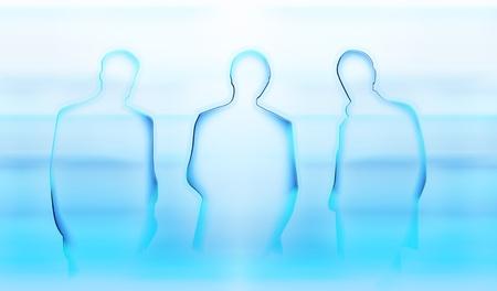Abstraites silhouettes éclairées de trois hommes d'affaires Banque d'images - 11551749