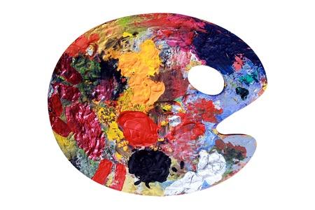 Palette de couleur apparaît comme une tête ronde avec des yeux et la bouche Banque d'images - 12454604