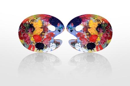 Palettes de couleurs deux semble têtes rondes qui parlent Banque d'images - 12454602