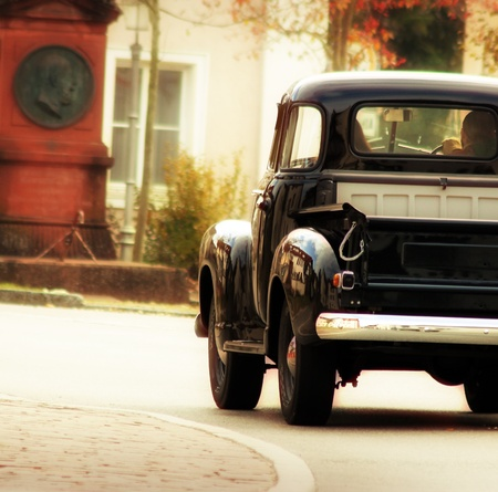 black old-timer pick up in retro look design photo
