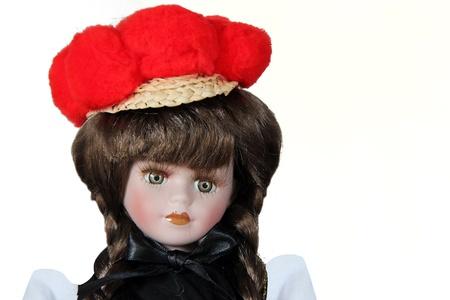 Originale poupée Forêt-Noire avec costume traditionnel Banque d'images - 12861788