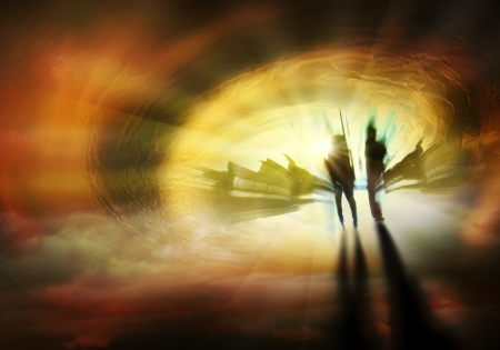 Two Persons are on the way to eternal life Stock Photo - 14891799