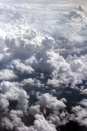 clouds on the sky from a plane above Stock Photo - 15178485