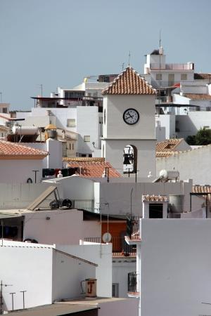 white church in the village of algarrobo andalusia spain