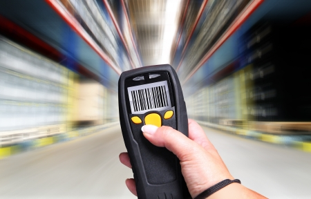 barcode scanner: Handheld Computer for barcode scanning identification