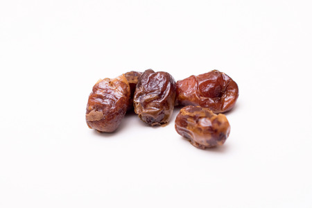 ramadhan: Dried date palm fruits or kurma for ramadhan. dried date kurma fruits ready to eat Stock Photo