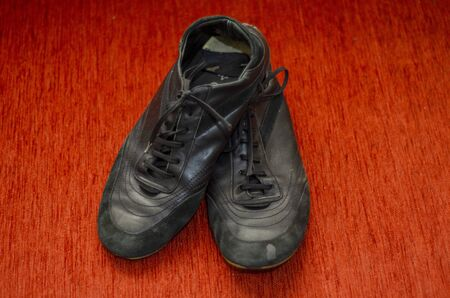 Old Black Walking Shoes, Vintage Black Walking Shoes