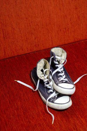 Old Blue Stylish Shoes, Fashion Blue Stylish Shoes Stockfoto