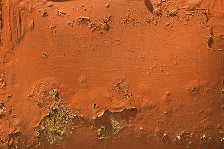 oxidate: pieces of metal painted orange