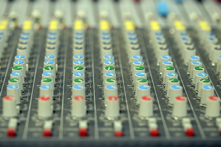 Handles audio remote control. A large number of . Stock Photo