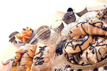 batch: Foto de dulces, lote y frutos secos