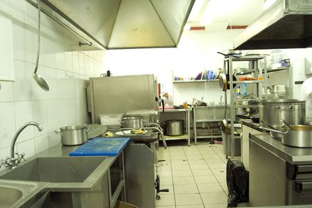 canteen: View of kitchen in restaurant or canteen