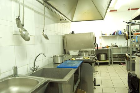 View of kitchen in restaurant or canteen