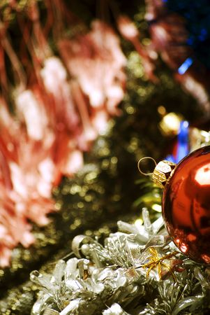Different Christmas decorations  close-up photo
