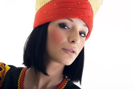 Portrait of a young beautiful brunette in Asian style Stock Photo - 8117018