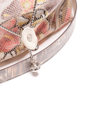 Isolated handbag with beautiful floral ornament Stock Photo - 12027670