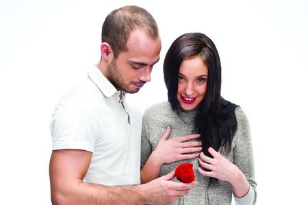 faisant l amour: jeune homme faisant la proposition de l'amour � une femme de son choix Banque d'images