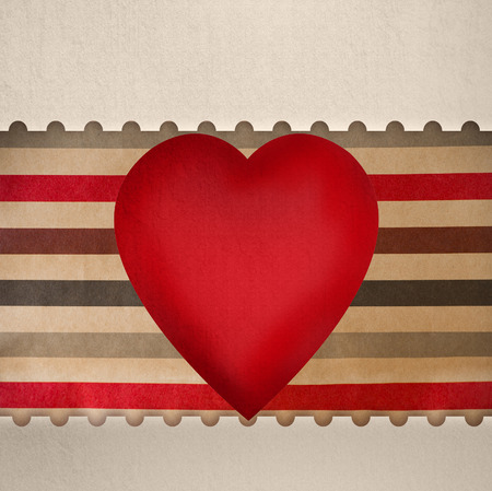 Vintage valentines day greeting card template photo