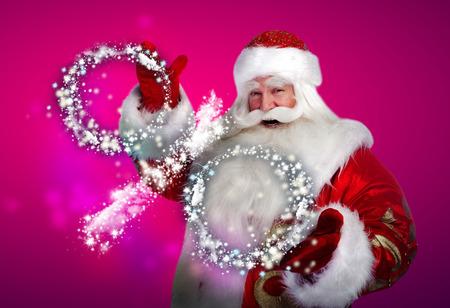 Santa Claus Christmas discount sales concept photo