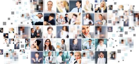 Colecci�n de diferentes personas retratos