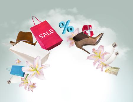 Shopping background photo