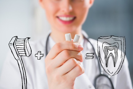recommendations: Healthy teeth concept. Dentists recommendations