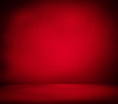 Creative Christmas background. Inside an empty red room Imagens