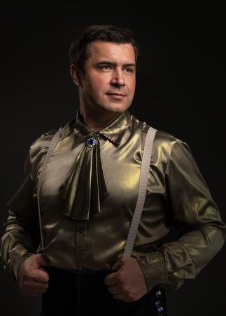 showman: Showman on black background