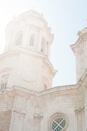 Cathedral of Cadiz Closeup. Andalusia, Spain. photo