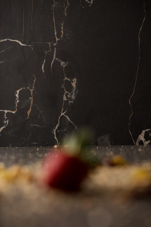 writable: Blur background of food strawberry