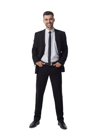 beau jeune homme: Businessman portrait isolé sur fond blanc Banque d'images