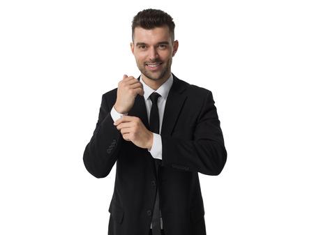Businessman portrait isolated on white background