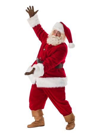 Santa Claus Portrait. Presenting blank space for your product Stock Photo