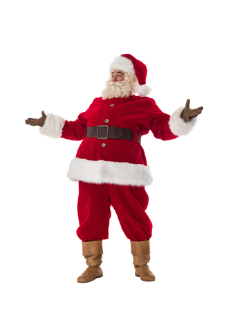 conjuring: Santa Claus Portrait. Standing with hands open