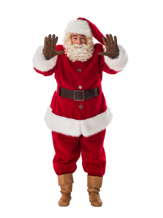 santa claus: Santa Claus Portrait. Stop gesture Stock Photo