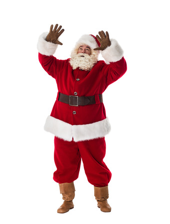 conjuring: Santa Claus conjuring Full-Length Portrait Stock Photo