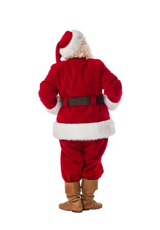 espalda: Santa Claus de longitud completa Retrato de detr�s Foto de archivo