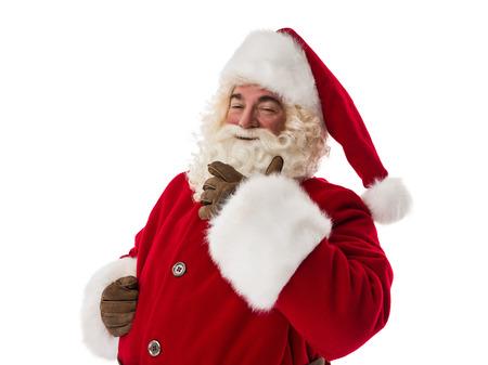 glad: Santa Claus glad and proud Closeup Portrait
