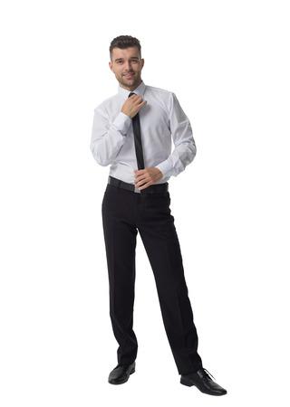 full length portrait: Businessman Full Length Portrait isolated on White Background