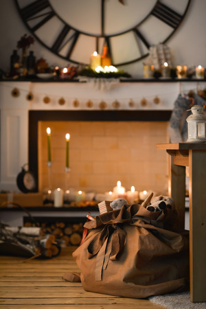 fireplace home: Christmas Fireplace at Home