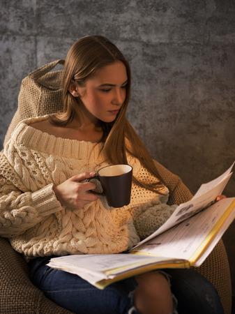 beanbag: Girl Studying on Beanbag at home