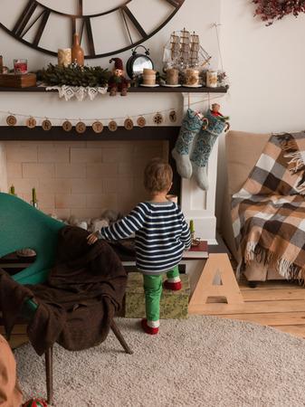 Little Boy at Home having Fun