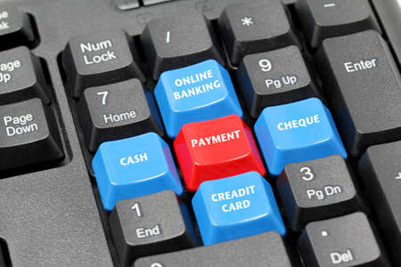 remit: term of payment concept on keyboard