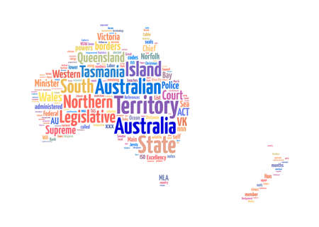 Australia map info-text graphic and arrangement concept photo