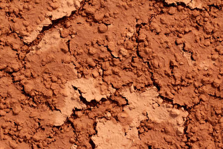 red clay: wet soil texture