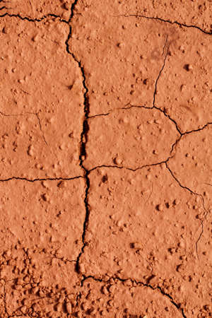 red clay: dry Laterite soil texture Stock Photo