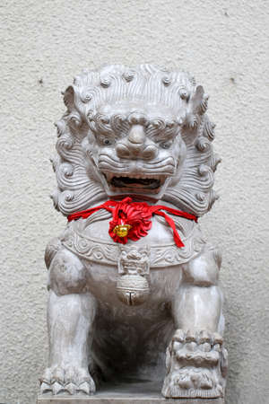Chinese Imperial Lion, also called Guardian Lion, are a common representation of the lion in pre-modern China photo