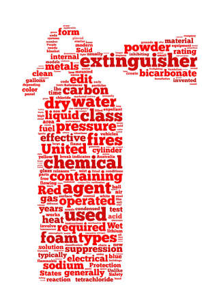 fire safety: Fire extinguisher sign text graphic and arrangement concept