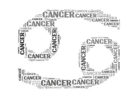 cancer zodiac: Text cloud: silhouette of cancer